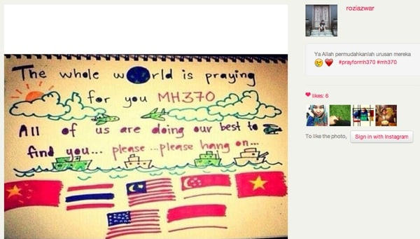Tweet Pray For MH370
